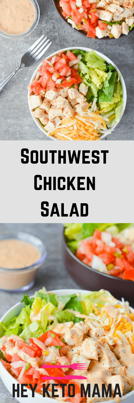 The Southwest Chicken Salad is one of my all time favorites. It's crisp, refreshing, and has just the right amount of kick. This dish is PERFECT for Spring afternoon. | heyketomama.com