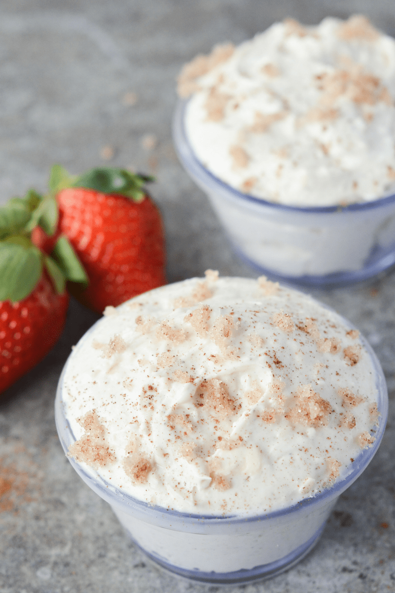 This Low Carb Cinnamon Cheesecake Dip is a guilt free sweet treat with a whole lot of flavor!   heyketomama.com