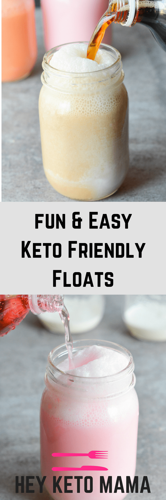 These Keto Friendly Floats will help you wash down your favorite meal in a low carb, high fat way! They're ridiculously simple and amazingly yummy! | heyketomama.com