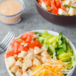 The Southwest Chicken Salad is one of my all time favorites. It's crisp, refreshing, and has just the right amount of kick. | heyketomama.com