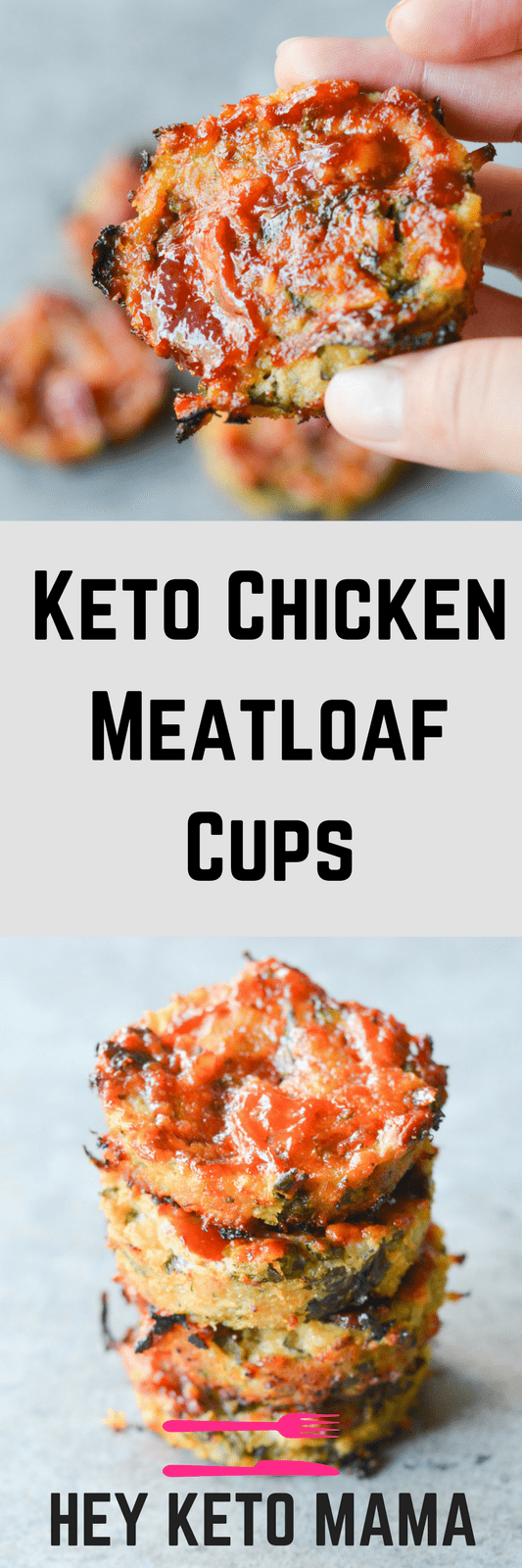 These Keto Chicken Meatloaf Cups are one of the easiest Low Carb Dinners I've ever made! Want to add some extra flavor? Wrap them in bacon! | heyketomama.com