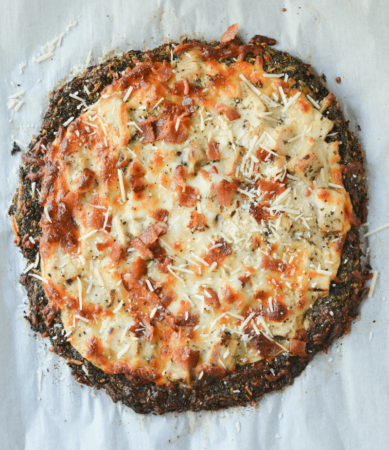 This Low Carb Broccoli Crust Pizza is an amazingly nutritious take on a classic favorite meal. | heyketomama.com
