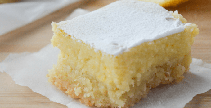 This recipe for keto lemon bars is an absolute low carb dream! With only 4g of net carbs per serving, you'll be happy to indulge in this bright and tangy treat without a shred of guilt! | heyketomama.com