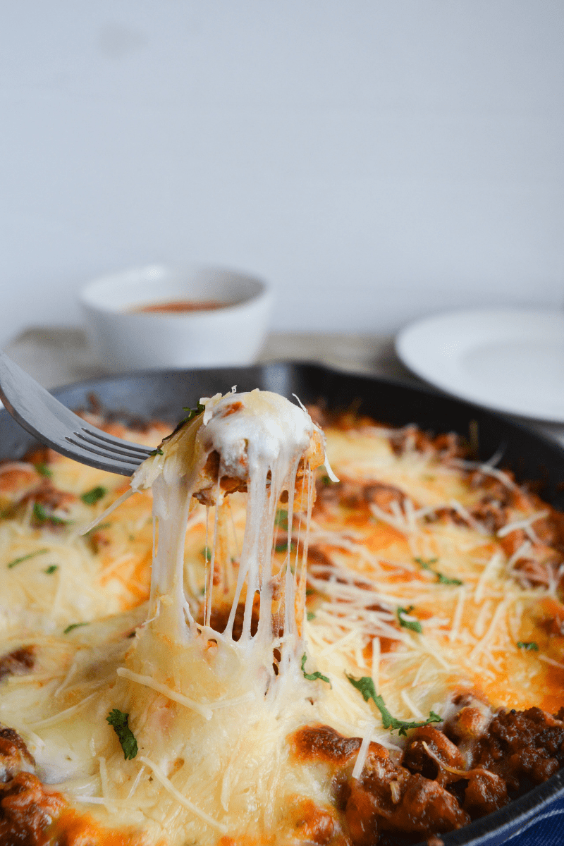 This Keto Lasagna Bake ditches the noodles, and it's so simple, you'll wonder why you didn't try it sooner. Sometimes simple is best, and that's exactly what this recipe is! | heyketomama.com